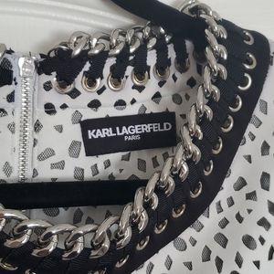 Karl Lagerfeld White Cut Out Dress